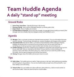 daily huddle template sle agenda template 41 free documents in