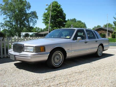 automobile air conditioning repair 1991 lincoln town car parking system find used 1991 lincoln town car signature series sedan in millersport ohio united states for