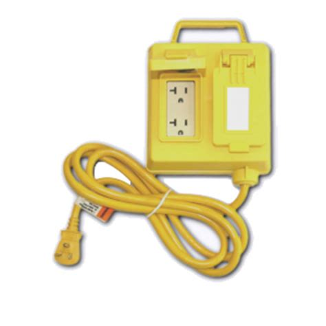 4 outlet gfci gfci protected 4 outlet box weatherproof 6 ft cord 4
