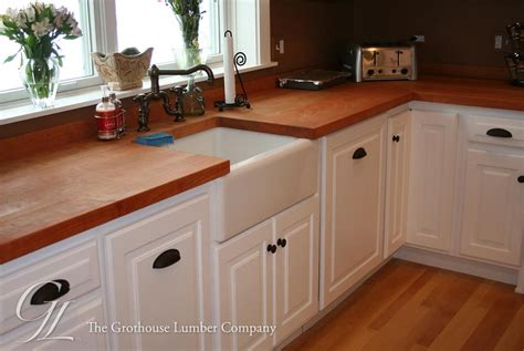White Wood Countertops by Cherry Kitchen Countertops Custom Butcher Blocks