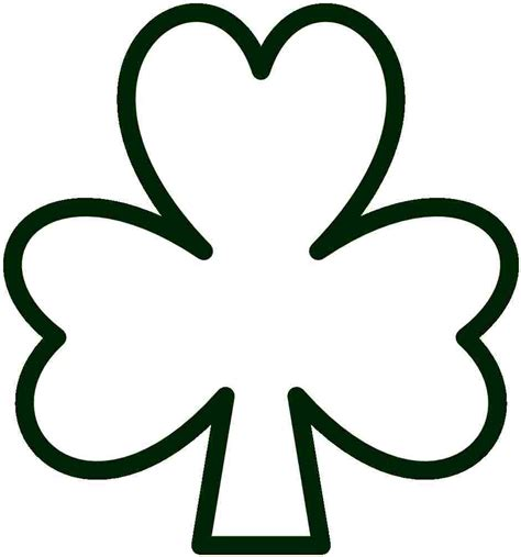 printable shamrock images 7 best images of free printable shamrocks to color free