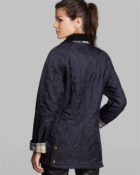 Quilted Jacket Barbour by Barbour Jacket Beadnell Polar Quilted In Blue Lyst