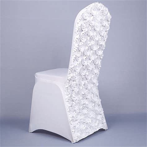 2018 new stretch wedding chair covers with rose flower