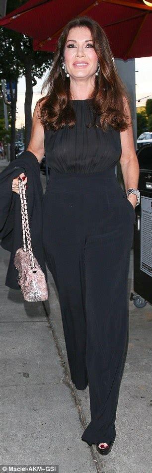 lisa vanderpump pink top with black bow real housewives lisa vanderpump braless in a sheer black
