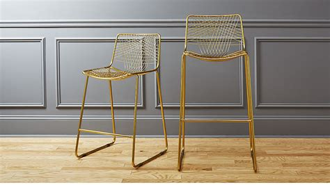 Gold Wire Bar Stools by Alpha Brass Bar Stools Cb2