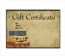 travel voucher gift certificate template 7 travel gift certificate templates free sle
