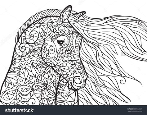 coloring pages of horseshoes adult coloring pages abstract horse printable adult