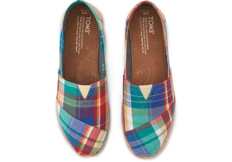 I Found Some More Leaf Shoes by Toms Madras Plaid Womens Classics In Green Lyst