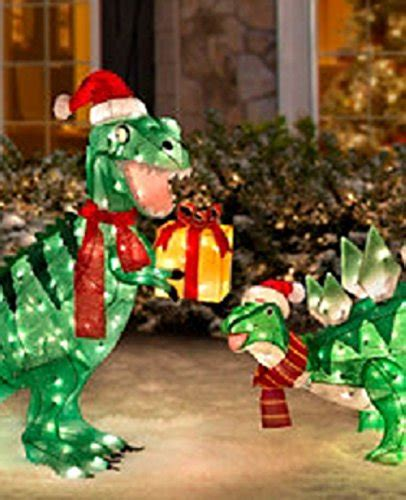 lighted dinosaur christmas decoration tinsel dinosaur decorations psoriasisguru