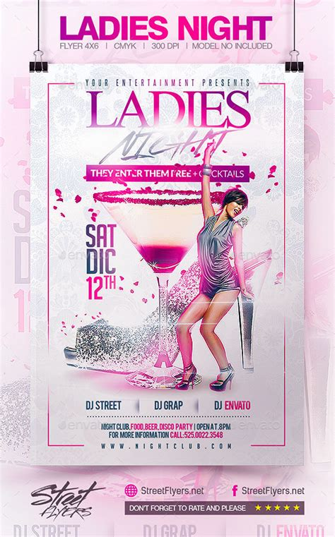 template flyer envato ladies night flyer template by streetflyers graphicriver