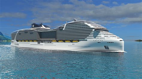 largest cruise ships biggest cruise ship in the world announced by msc cruises