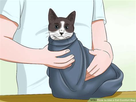 cat comfort bag how to use a cat comfort bag 12 steps with pictures