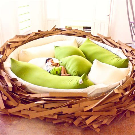 birds nest bed ever wondered what it would be like to sleep in a giant