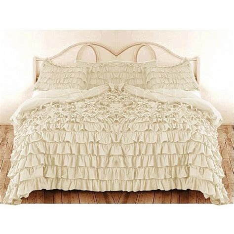 cream king comforter ruffle duvet cover king california king cream color