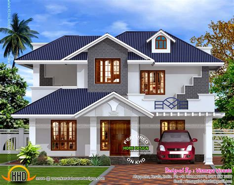 design of kerala style home kerala style villa exterior kerala home design and floor