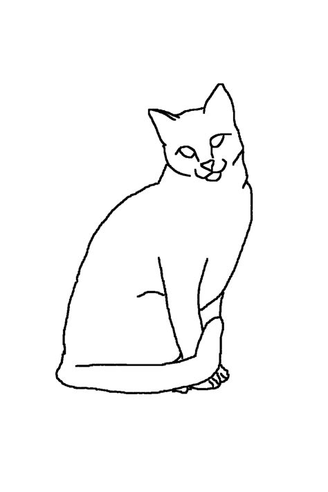 Outline Drawing Cat Laying Vitruvian Outline by Outline Cat 2 By Nyjon On Deviantart