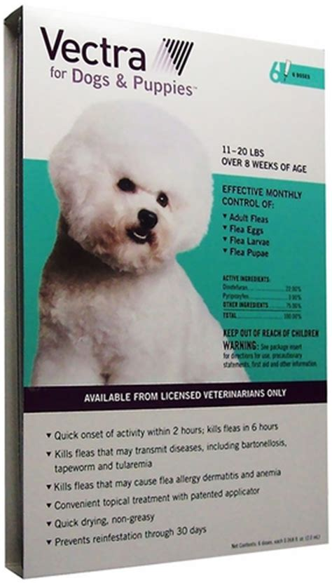 vectra for dogs vectra dogs and puppies 11 to 20 lbs 6 pk healthypets