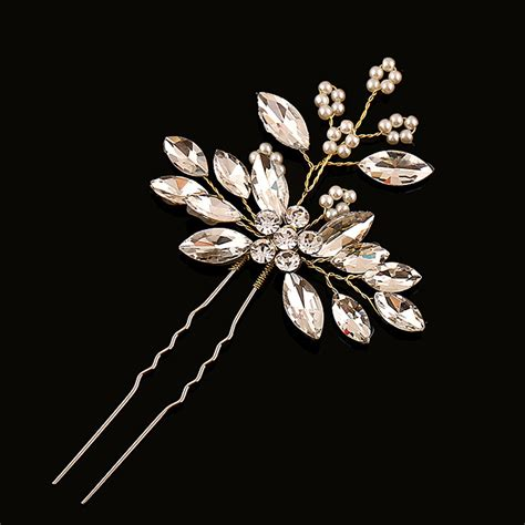 Handmade Hair Pins - 12 pcs handmade hair jewelry vine bridal pearl hair pins