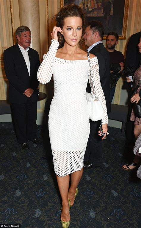 kate beckinsale brings some hollywood style glamour to an easter kate beckinsale stuns in white mesh dress at stephen