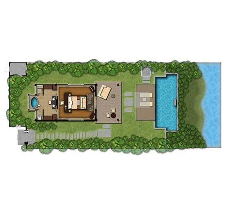 Oasis Floor Plan vietnam luxury villas lagoon pool villa lang co banyan tree