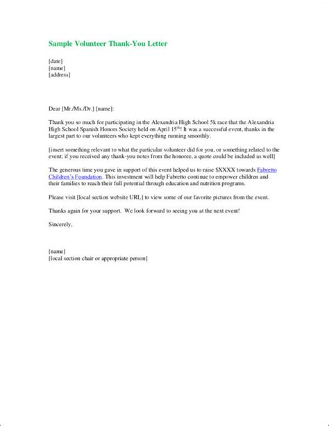 thank you letter after dietitian 9 thank you letter sles templates in doc