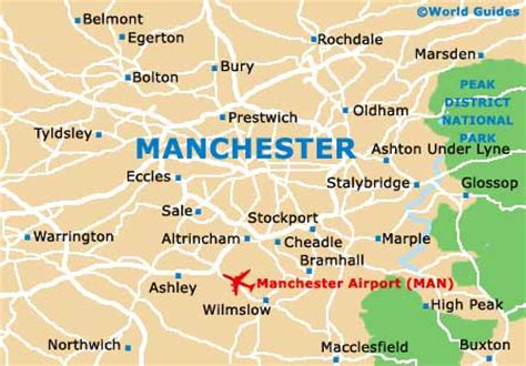 map uk manchester manchester travel guide and tourist information greater
