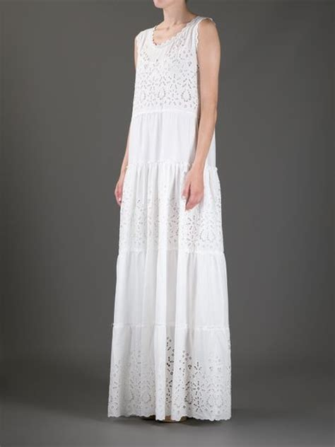 Dress Lusia Maxy luisa beccaria eyelet maxi dress in white lyst