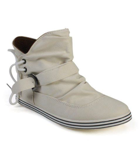 cefiro blissful white high ankle length shoes price in