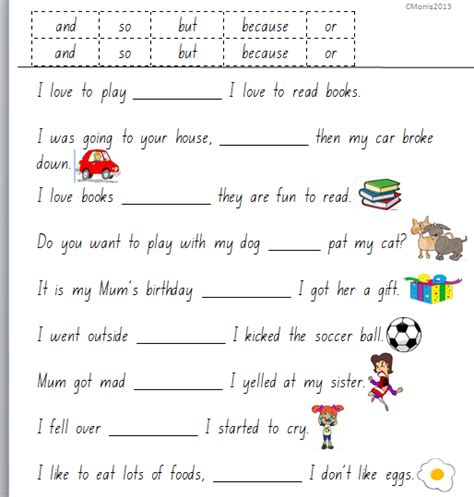 Conjunction Worksheets by Flourishing In Kindergarten Grammar Worksheets