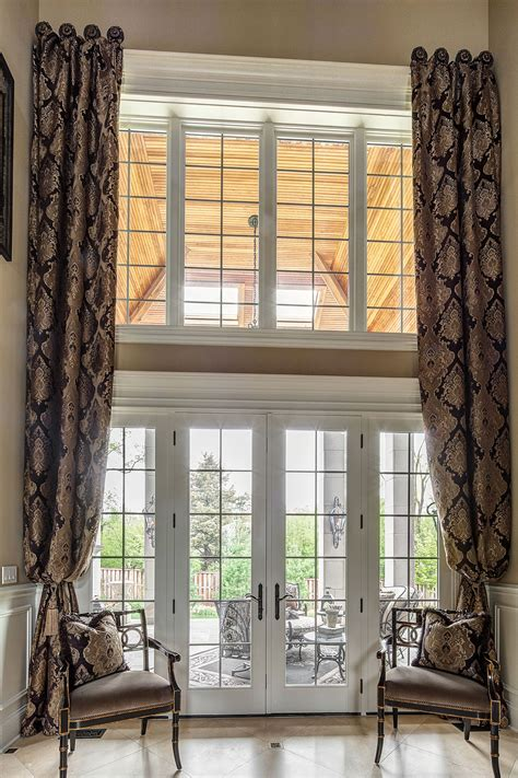 foyer window privacy custom window treatments projects linly designs