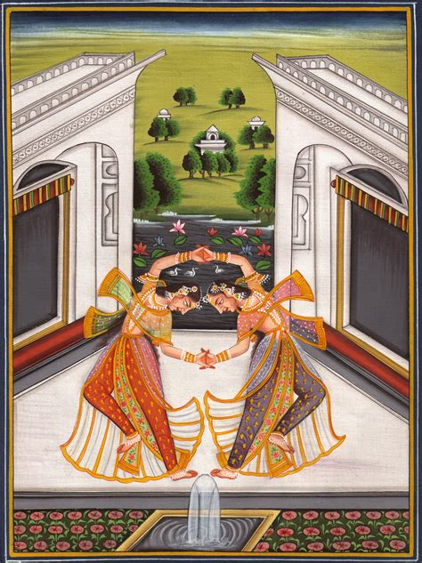 Handmade Miniatures - mughal deccan miniature painting handmade moghul