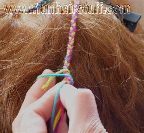 plaited yarn braids hair plaited with thread plaited yarn braids