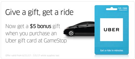 Where To Get Uber Gift Cards - expired 20 uber gift card for 15 at gamestop or 10 off at ppdg doctor of credit