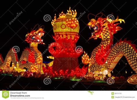 new year lantern display new year lantern show the totem stock photo image