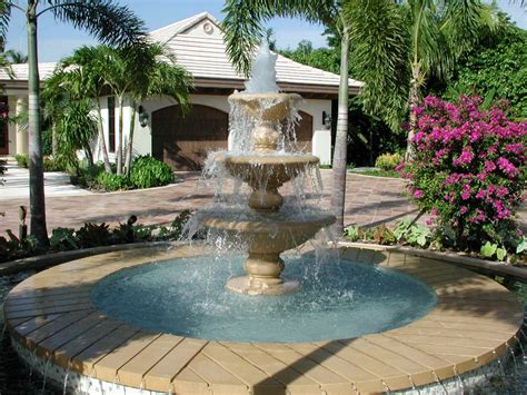 water fountain designs awesome front yard decoration idea with best water