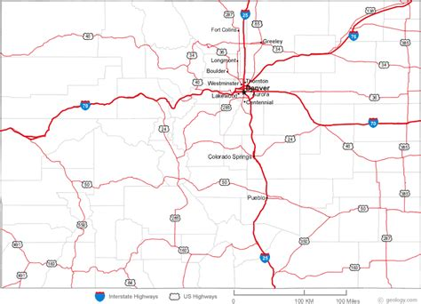 colorado map of cities and towns map of colorado cities 50 states collect the whole set