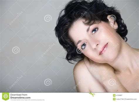 hair fir mid 30s natural woman in mid 30s royalty free stock photography