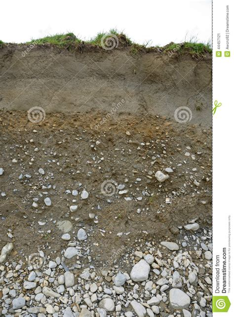 Soil Cross Section by Cross Section Of Soil Types Stock Image Image 44457121