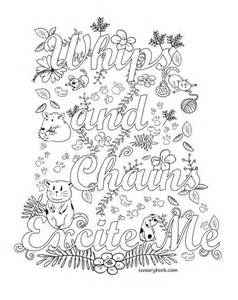 whips chains excite swear words coloring sweary coloring book