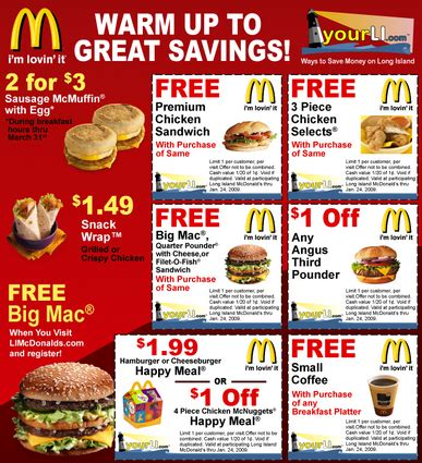 printable restaurant coupons august 2015 mcdonalds printable coupons may 2018