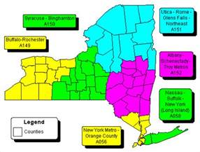New York Area Codes Map by New York State Amp Regional Zip Code Wall Maps Swiftmaps Com