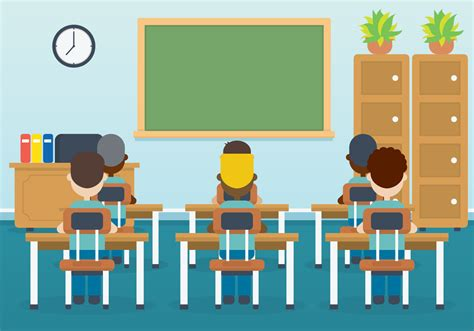 classroom clipart classroom with vector illustration free