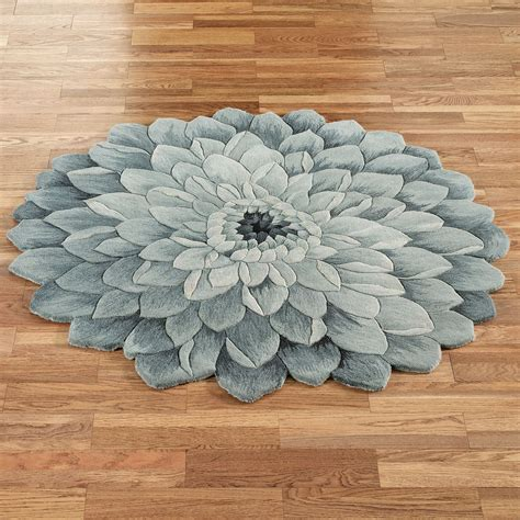 flower shaped area rugs abby bloom blue flower shaped rugs rugs rounding