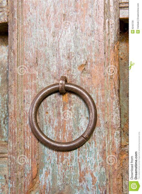 ornamental door circular door handle stock photo