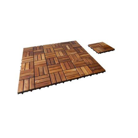 seateak interlocking teak floor tiles 10 pk walmart - 10 Pk Teak Patio Flooring