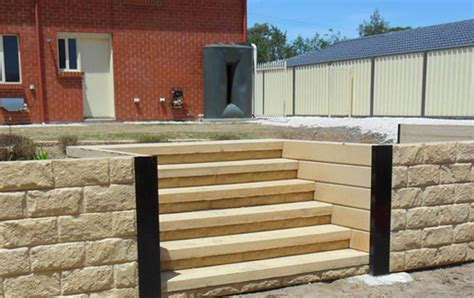 Concrete Sleepers Melbourne by Cove Steps Concrete Steps Outback Sleepers Adelaide