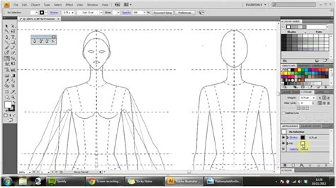 How To Draw Technical Flats For Fashion Part 1 Youtube Technical Flat Template