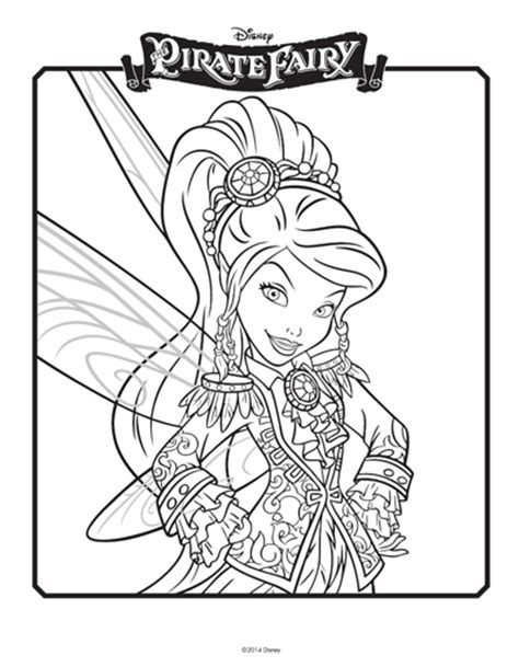 Tinkerbell And The Pirate Coloring Pages tinkerbell coloring pages celebrate tinkerbell with