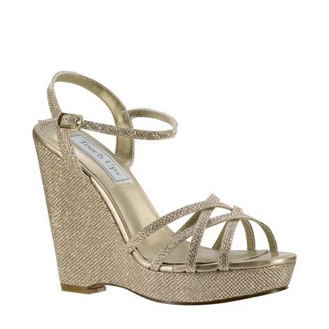 Gold Wedge Wedding Shoes by The Gallery For Gt Gold Wedge Wedding Shoes