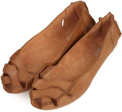 Topshop Bow Front Peep Toes by Topshop Haiti Peep Toe Cut Out Shoes In Brown Lyst